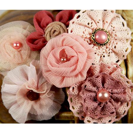 Prima - Madrigal Blossom Collection - Fabric Flower Embellishments - Maestro Mauve