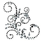 Prima - Say It In Crystals Collection - Self Adhesive Jewel Art - Bling - Sovereignity Swirl - Black and Clear