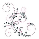 Prima - Say It In Crystals Collection - Self Adhesive Jewel Art - Bling - Sovereignity Swirl - Pink and Clear, CLEARANCE