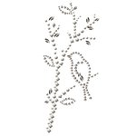 Prima - Say It In Pearls and Crystals Collection - Self Adhesive Jewel Art - Bling - Vintage Branch - White and Iridescent, CLEARANCE