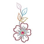 Prima - Say It In Crystals Collection - Self Adhesive Jewel Art - Bling - Flower - Multicolor 1, CLEARANCE