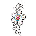 Prima - Say It In Crystals Collection - Self Adhesive Jewel Art - Bling - Flower - Multicolor 3
