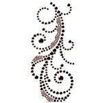 Prima - Say It In Crystals Collection - Self Adhesive Jewel Art - Bling - Swirl with Lace - Black, CLEARANCE