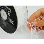 Prima - Lace Collection - Bleached Gossamery Spool - 30 Yards, CLEARANCE