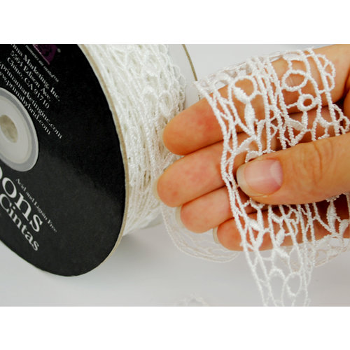 Prima - Lace Collection - Bleached Colonnade Spool - 30 Yards