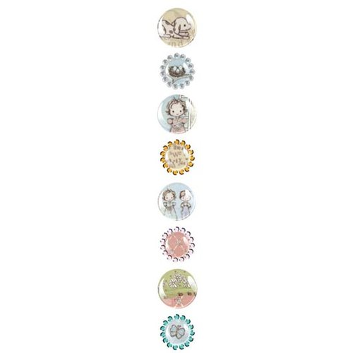 Prima - Pebbles Collection - Self Adhesive Pebbles with Gems - Jack and Jill