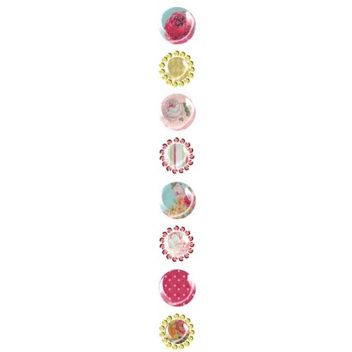 Prima - Pebbles Collection - Self Adhesive Pebbles with Gems - Annalee, CLEARANCE