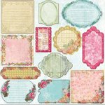 Prima - Annalee Collection - Self Adhesive Glittered Chipboard Pieces - Journaling, CLEARANCE