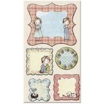 Prima - Jack and Jill Collection - Self Adhesive Canvas Laminated Chipboard Pieces