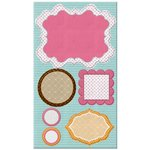 Prima - So Cute Collection - Self Adhesive Canvas Laminated Chipboard Pieces - Girls