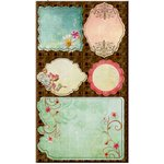 Prima - Fairy Flora Collection - Self Adhesive Canvas Laminated Chipboard Pieces