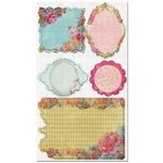 Prima - Annalee Collection - Self Adhesive Canvas Laminated Chipboard Pieces, CLEARANCE