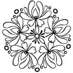 Prima - Paintable Clear Acrylic Stamps - Flower 2