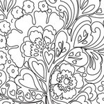 Prima - Paintable Clear Acrylic Stamps - Flower 3, CLEARANCE