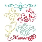 Prima - Annalee Collection - Clear Acrylic Stamps and Self Adhesive Jewels - Mix 2