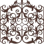 Prima - Self Adhesive - Die Cut Felt Art - Victorian Gate