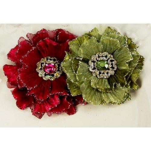 Prima - Rossetti Roses Collection - Fabric Flower Embellishments - Sara
