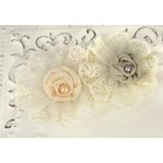 Prima - Poetic Whispers Collection - Fabric Flower Embellishments - Misty