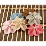 Prima - Kalanchoe Collection - Felt Flower Embellishments - Watermelon, CLEARANCE