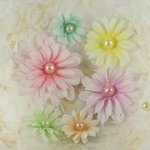 Prima - Gwendolyns Collection - Fabric Flower Embellishments - Goldfinch, CLEARANCE