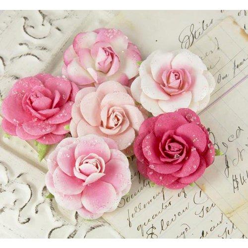 Prima - Love Letter Roses Collection - Flower Embellishments - Quartz