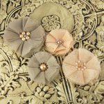 Prima - Faience Collection - Fabric Flower Embellishments - Emily, CLEARANCE