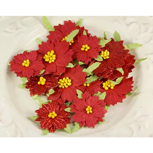 Prima - Holiday Celebration Collection - Flower Embellishments - Poinsettia