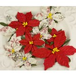 Prima - Holiday Celebration Collection - Flower Embellishments - Snowflake, CLEARANCE