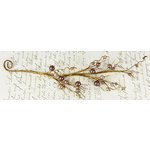 Prima - Winter Branches Collection - Jeweled Branch Embellishments - Grape