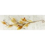 Prima - Winter Branches Collection - Jeweled Branch Embellishments - Apricot, CLEARANCE