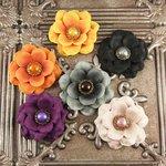 Prima - Autumn Harvest Collection - Flower Embellishments - Clove
