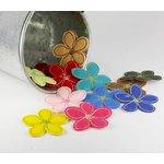 Prima - Stitched Wildflowers Collection - Fabric Flower Embellishments - Wild Daisy, CLEARANCE