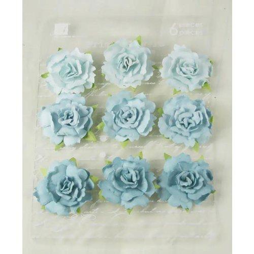 Prima - Sugarplum Roses Collection - Flower Embellishments - Caribbean