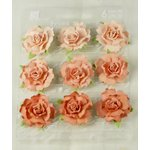Prima - Sugarplum Roses Collection - Flower Embellishments - Chestnut, CLEARANCE