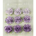 Prima - Sugarplum Roses Collection - Flower Embellishments - Eggplant, CLEARANCE