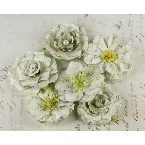Prima - Orchard Mix Collection - Flower Embellishments - Dewdrop, CLEARANCE