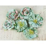 Prima - Orchard Mix Collection - Flower Embellishments - Frost, CLEARANCE