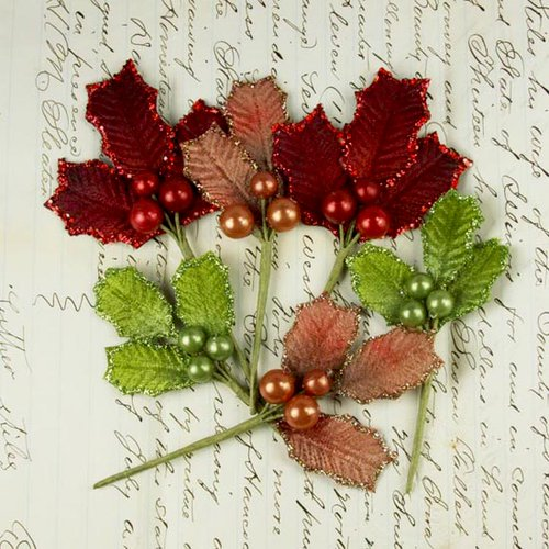 Prima - Antique Mistletoe Collection - Jeweled Embellishments - Traditional