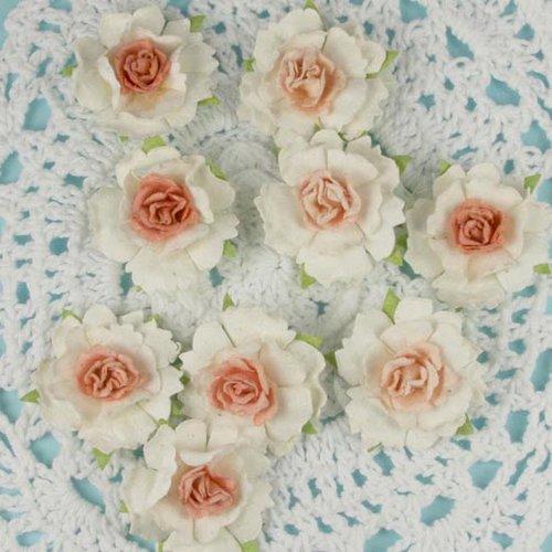 Prima - Cottage Blossoms Collection - Flower Embellishments - Pink Quartz