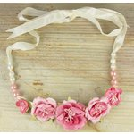 Prima - Scrapbook Jewelry Collection - Jeweled Flower Necklaces - Tulip