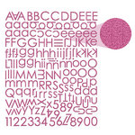 Prima - Textured Alphabet Stickers - Plum, CLEARANCE