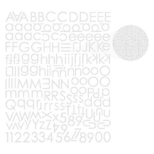 Prima - Textured Alphabet Stickers - White