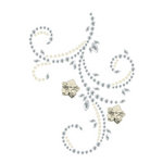 Prima - Say It In Pearls and Crystals Collection - Self Adhesive Jewel Art - Bling - Flourish with Flowers - Clear