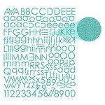 Prima - Textured Alphabet Stickers - Teal