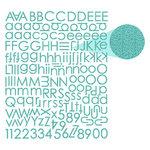Prima - Textured Alphabet Stickers - Teal