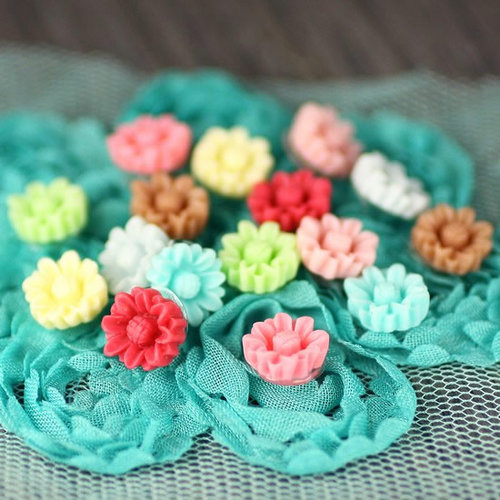 Prima - Arco Iris Collection - Flower Center Embellishments - Celebrate Jack and Jill