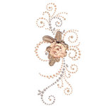 Prima - Say It In Pearls and Crystals Collection - Self Adhesive Jewel Art - Bling - Weathered Front Porch - Brown