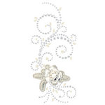Prima - Say It In Pearls and Crystals Collection - Self Adhesive Jewel Art - Bling - Elegant Cottage - Clear