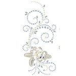 Prima - Say It In Pearls and Crystals Collection - Self Adhesive Jewel Art - Bling - Elegant Cottage - Grey