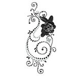 Prima - Say It In Pearls and Crystals Collection - Self Adhesive Jewel Art - Bling - Weathered Front Porch - Black